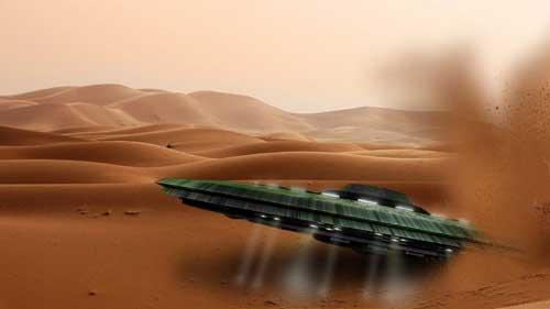 Bí ẩn: Người ngoài hành tinh thoắt ẩn thoắt hiện tại hoang mạc Sahara?