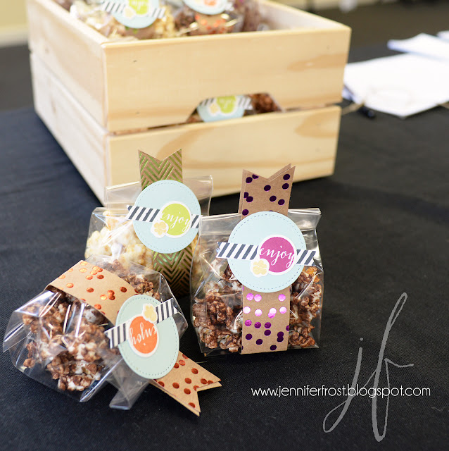 Popcorn party favor bags, Stampin' Up!, New catalogue launch party, Bendigo 2017, Papercraft by Jennifer Frost