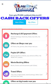 Paytm cash back