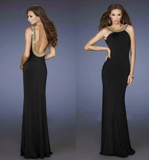 Open back closed front dress for special occasions