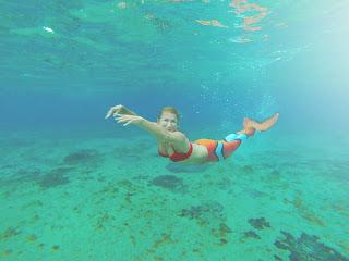 mermaid, cozumel, relax, stress release, sirena, caribbean, mar caribe