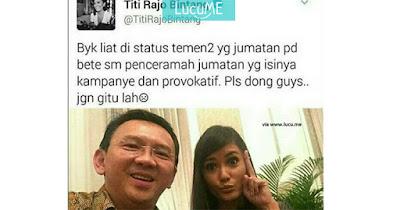 Cuitan Titi Rajo Bintang Soal Khutbah Sholat Jum'at Ini Viral, Diskakmat Netizen?