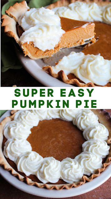 This simple pumpkin pie recipe is made with sweetened condensed milk, so you know it's going to be good! It only takes a few ingredients and tastes amazing.