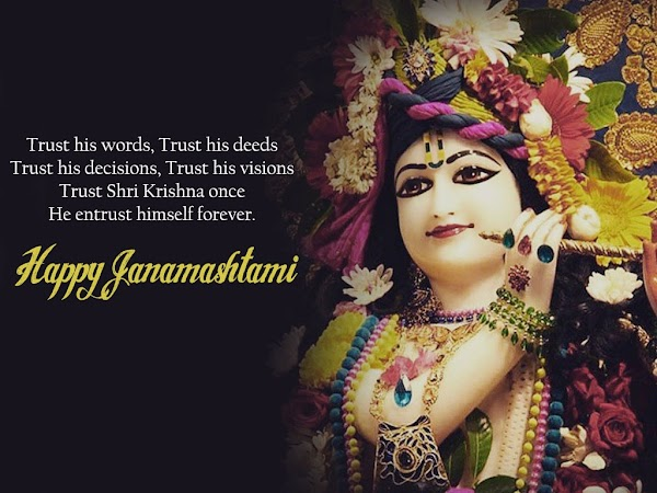 Happy Janmashtami Wishes Quotes 2018 - Hindi