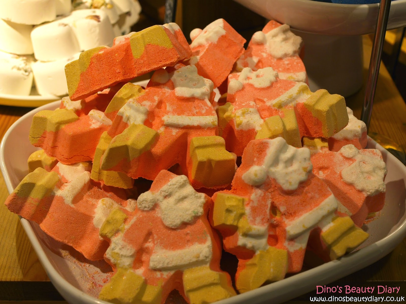 Dino's Beauty Diary - Lush Nottingham Bloggers Event - Dashing Santa bath bombs