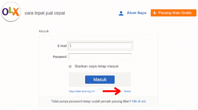 Cara Daftar OLX.co.id 2015 - Step 2