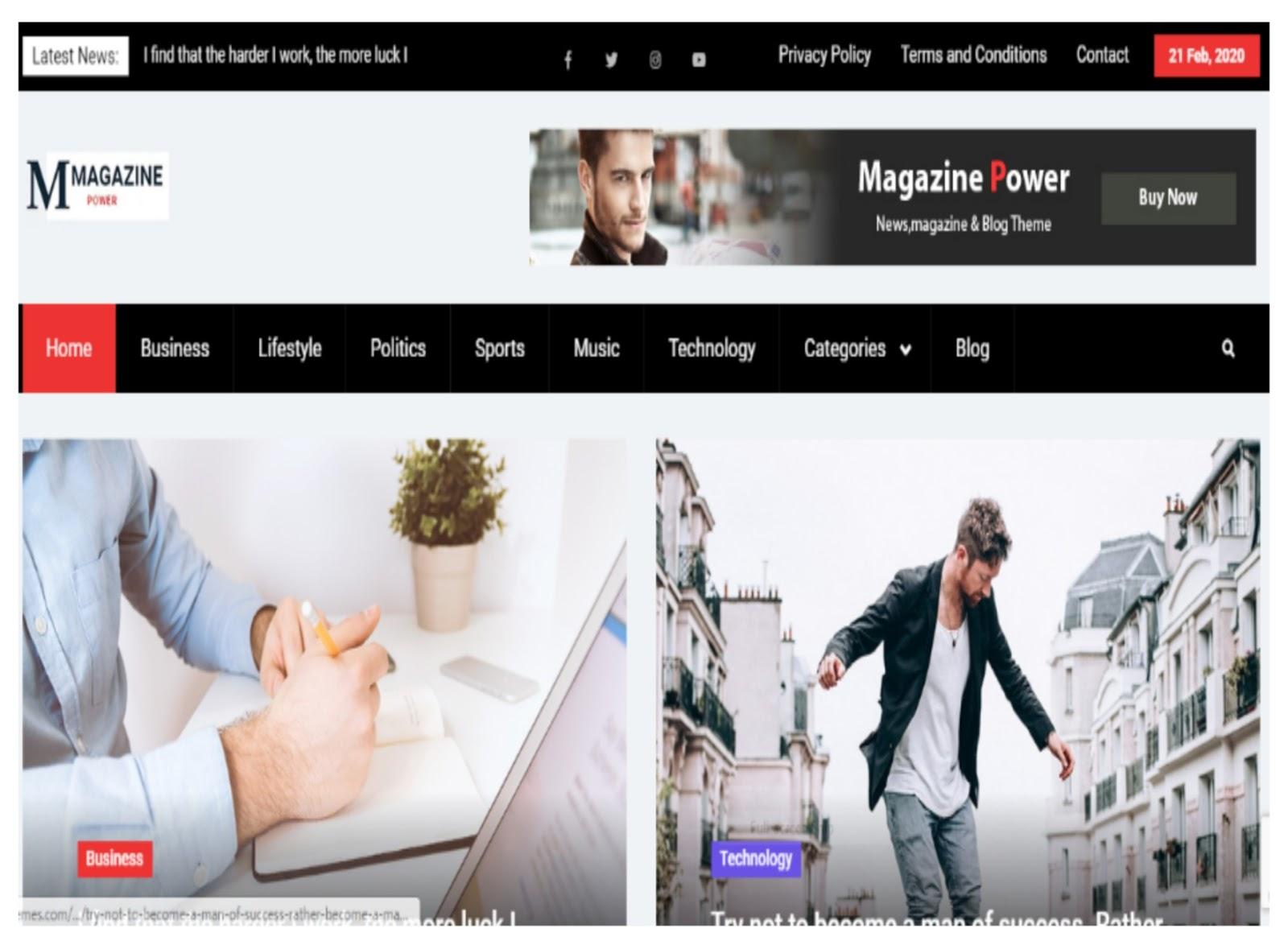 Magazine Power WordPress Theme