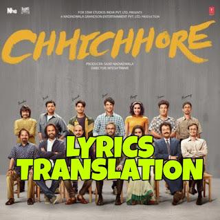 Khairiyat Lyrics in English   With Translation   – Chhichhore   Sushant Singh