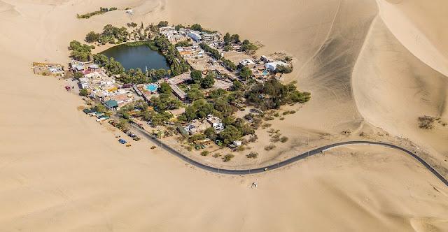 Chiêm ngưỡng ốc đảo tuyệt đẹp nằm giữa lòng sa mạc Peru