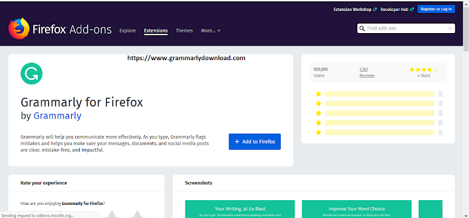 Installing Grammarly  for Firefox