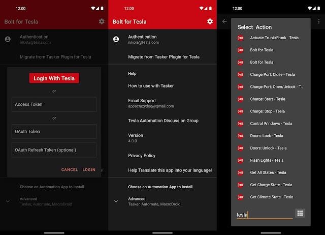 Bolt for Tesla تطبيق رائع ومفيد موجّه لأصحاب سيارات تسلا