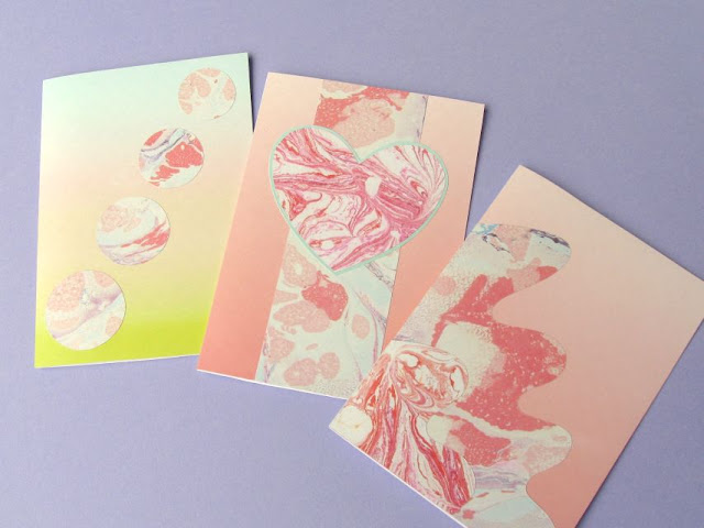 Making greetings cards from patterned paper and card
