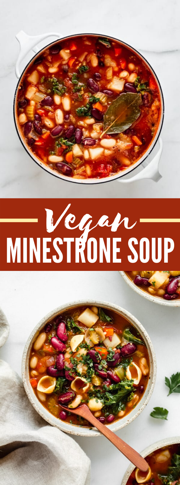 VEGAN MINESTRONE SOUP #vegetarian #lunch