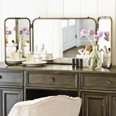 Espejo triptico decoracion de tocador