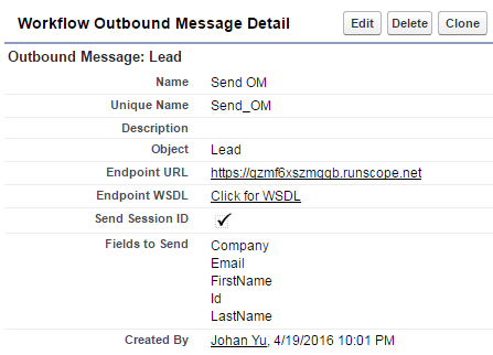 SimplySfdc com: Testing Outbound Message in Salesforce