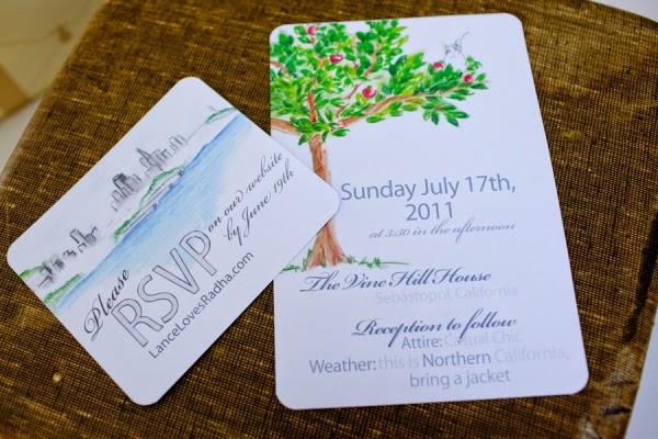 Thiệp cưới dạng Postcard lạ lẫm bắt mắt 14