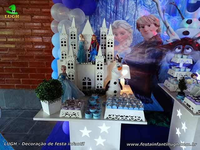 Decoração de festa infantil Frozen - Aniversário feminino