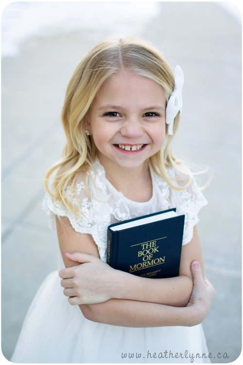 LDS Baptism Book of Mormon Photos