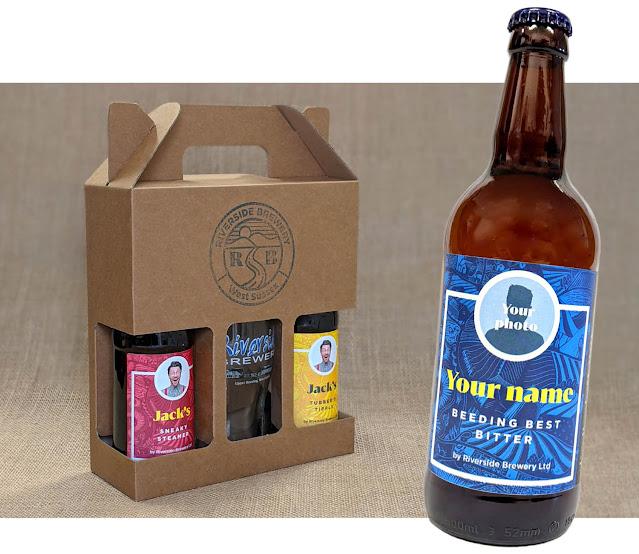 Riverside personalised beer gift pack