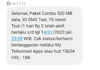 Gambar cara mendapatkan kuota gratis Telkomsel