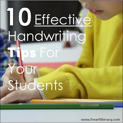 10 Effective Handwriting Tips For Your Students - Here are ten ways to help your students (or your own kids) improve their handwriting.