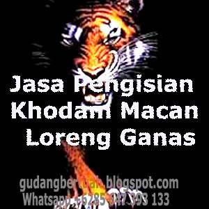 Jasa Pengisian Khodam Macan Loreng Ganas