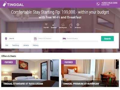 Booking Hotel Dengan Budget Standar? Tinggal.com Hadir Di Indonesia