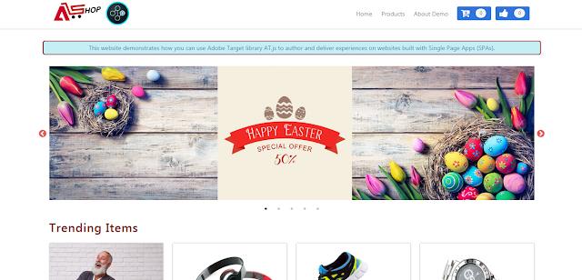 adobe target SPA homepage