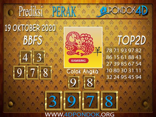 Prediksi Togel PERAK PONDOK4D 19 OKTOBER 2020