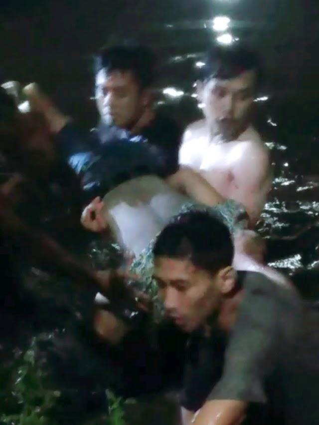 Satu dari Tiga Siswa SMPN 5 Sidoarjo Tenggelam di Kali Pucang Berhasil Ditemukan