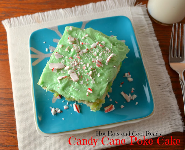 A fun and delicious holiday treat! Full of peppermint goodness, it's great for any holiday celebration! Candy Cane Poke Cake Recipe from Hot Eats and Cool Reads