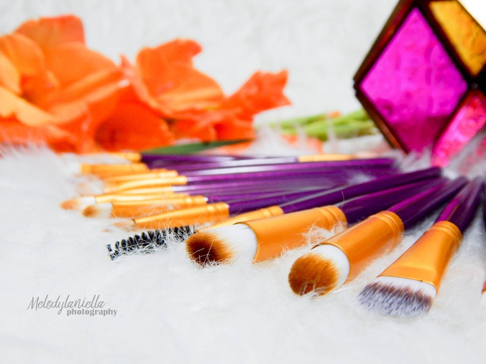 006 pędzle gamiss do makijażu makeupbrushes melodylaniella beauty fashion style haul prezenty ciekawe chińskie zakupy