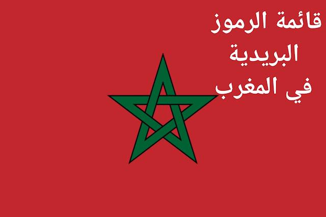 هذه هي المناطق البريدية و بعض من الرموز البريدية في المغرب