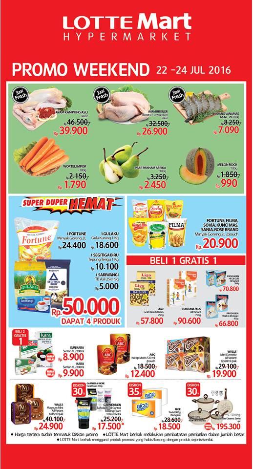 Katalog Harga Promo Lottemart Akhir Pekan 22 24 Juli