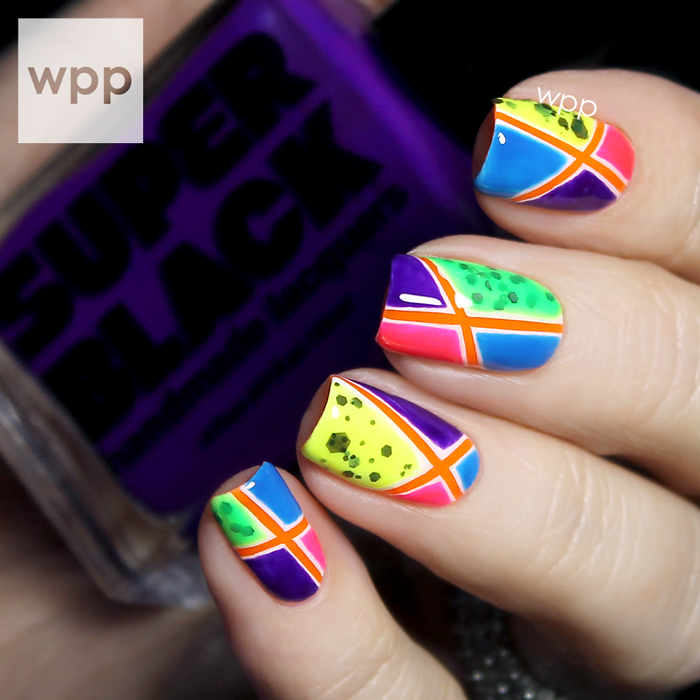 Super Black Lacquers Summer 2014 Collection Geometric Nail Art