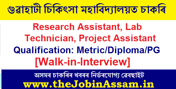 Research Assistant/Lab Technician/Project Assistant Posts [Walk-in]