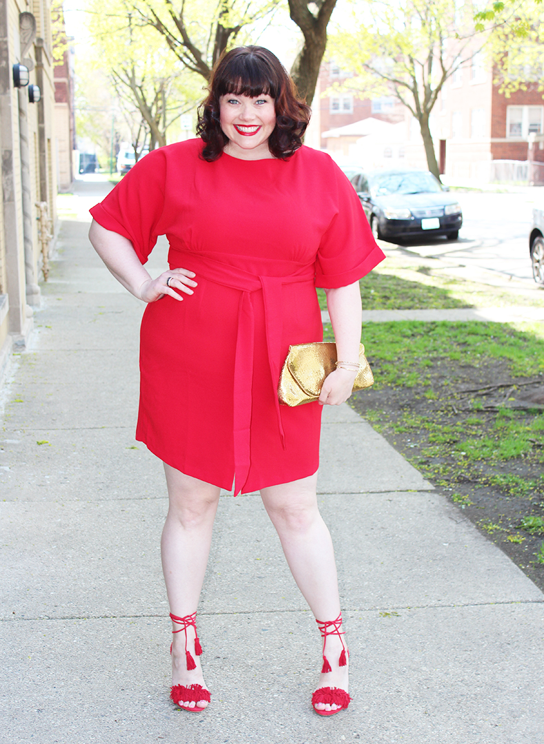 56d37e4b9a5 Lady in Red  Plus Size Red Dress from Simply Be
