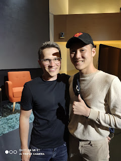 Alaric Ong with Vlag Madelin, CEO of Webflow