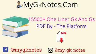 15500+ One Liner Gk And Gs PDF By - The Platform