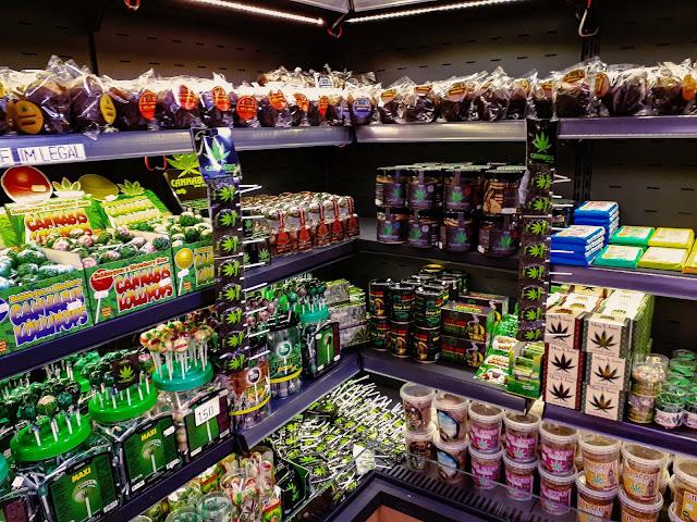 cannabis snacks on shelf