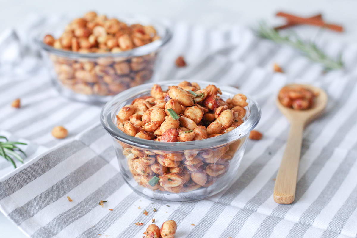 Sweet, Spicy & Salty Bourbon Peanuts