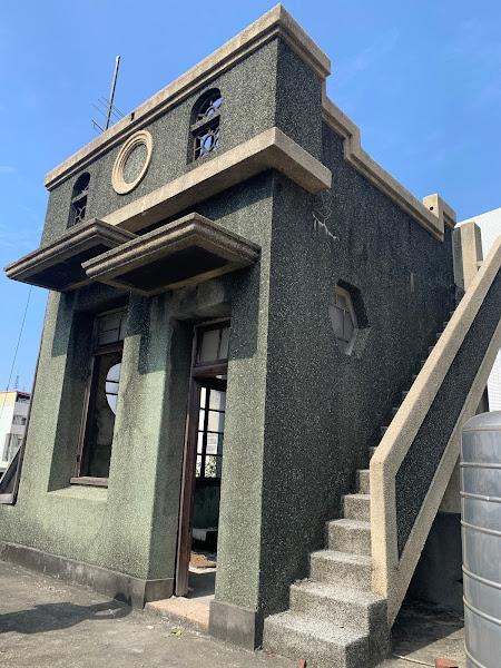 員林保安堂曾春泉洋樓-屋凸裝飾、立面洗石子現況