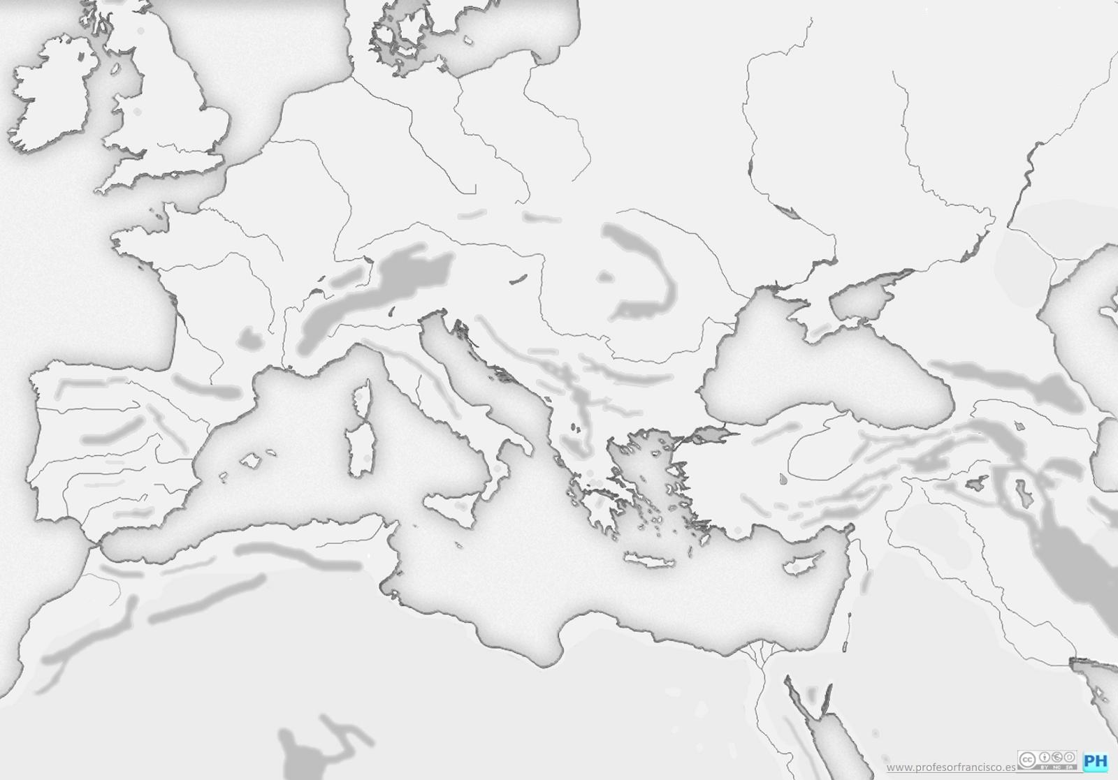Worksheet. Profesor de Historia Geografa y Arte Mapas mudos de la Edad Antigua