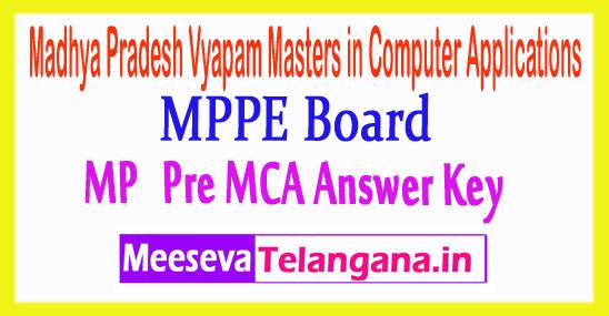 Madhya Pradesh Vyapam Masters in Computer Applications Pre MCA Entrance Exam Answer Key 2018