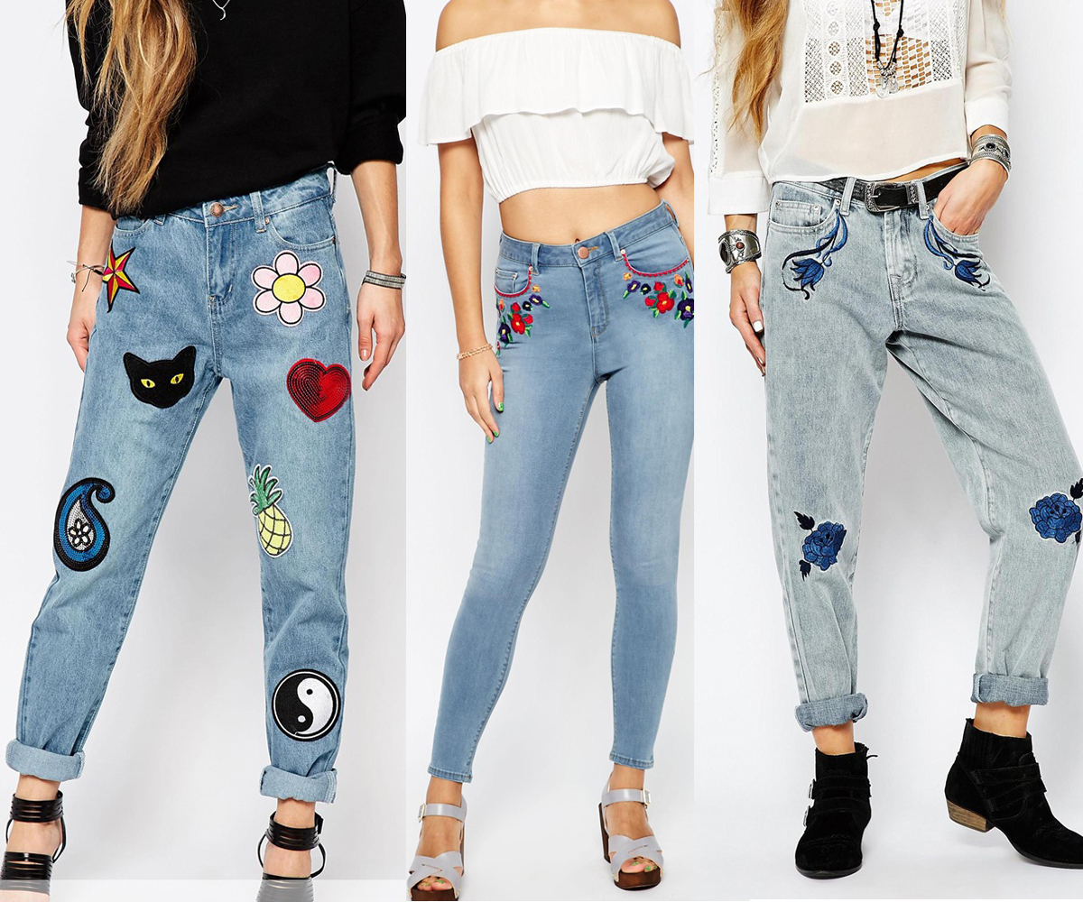Embroidered Denim Trend on the Rock on Holly Blog