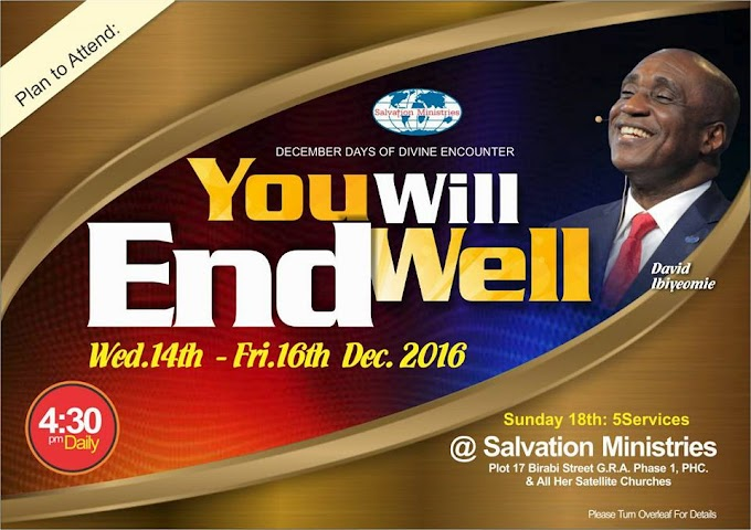 Salvation Ministries, December Days of Divine Encounter