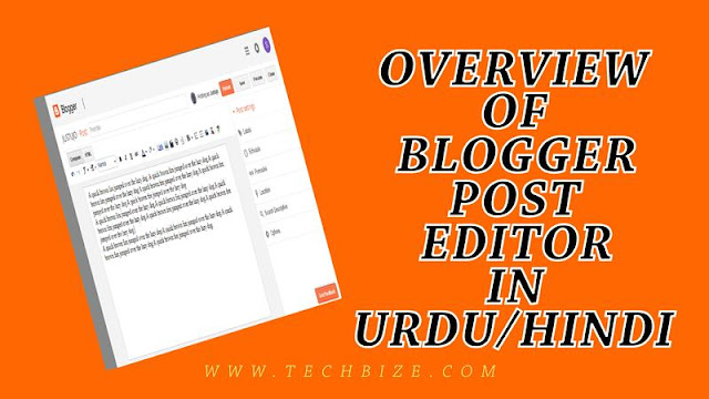 How to Write Post in Blogger Blog | Overview of Blogger Post Editor in Urdu / Hindi