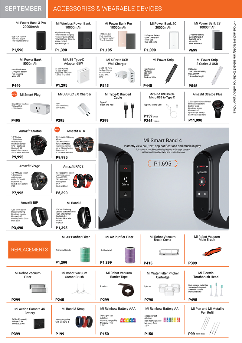 Xiaomi Product Catalog Page 4