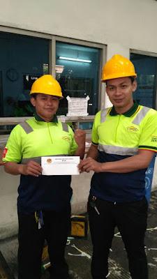 Kanan : Arfan taufik  anggota serikat pekerja linfox