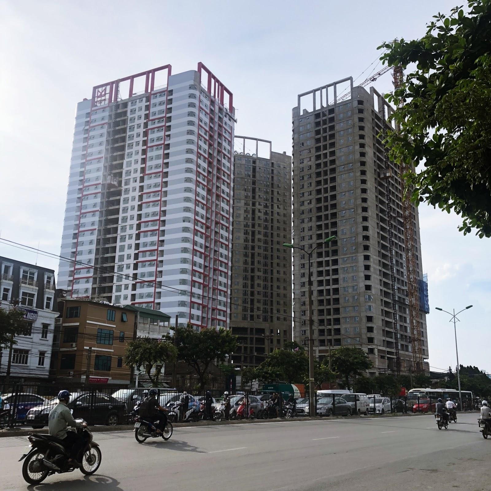 Tiến độ xây dựng dự án chung cư Imperial Plaza Giải Phóng tháng 6